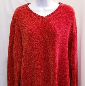 Studio Works Sparkly Red Sweater - Size XL